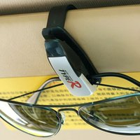 Wholesale Black Auto Fastener Car Glasses Holder Auto Vehicle Visor Sunglass Eye Glasses Business Bank Card Ticket Holder Clip Support