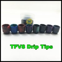 Wholesale Newest TFV8 Atomizer drip tip TFV8 Cloud Beast Tank With V8 T8 V8 Q4 Coil Head Best Updated TFV4 Tank Freel Shipping