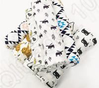 batman robe - 15 design KKA140 Cotton Muslin Swaddle Blanket burlap multi use ins infant parisarc newborn baby wrap Batman tiger Quilt Robes