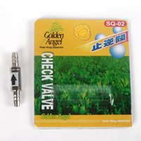 Wholesale 2pcs Stainless Steel Aquarium CHECK VALVE for co2 line mm tubing Regulator Diffuser