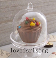 baby shower sale - Hot Sale New Arrivals Mini Clear White Cupcake Wedding Favor Boxes For Lovely Baby Shower Party Supplies