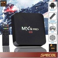 Wholesale MXQ PRO Android TV Box Amlogic S905 Quad Core GB GB HDMI kodi K H Bluetooth Set Top TV Box