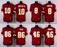 alfred red - Elite jerseys Kirk Cousins Robert Griffin III Alfred Morris Jordan Reed Red White Elite Mens jerseys Free Drop Shipping Mix Order