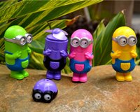 Wholesale Despicable Me USB Battery Charging Fans Cartoon Rechargeable Children Mini Fan Big Eye Minions Skin Portable CarryColorful With Retails Box