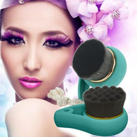 Wholesale 2 Colors Types Bamboo Charcoal Facial Cleaning Brush Soft Hair Face Wash Brushes Pore Cleanser Cepillo Limpiador Facial