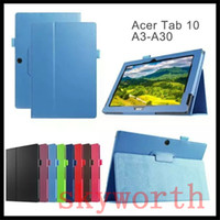 acer wholesale - Magnetic PU Leather Folio Flip Folding Case Cover for Acer Iconia Tab A3 A30 A3 A20 One B1 B1 Talk S A1