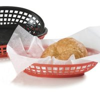 Wholesale 6pcs French Fries Basket Oval Plastic Fast Food Basket Picnic Plates Sandwich and Fry Serving Tray platos plastic