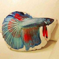 bettas fish - 12 Pieces Novelty Original Designs Cute Amusing Big Fish Printing Bettas Pillows Cushions