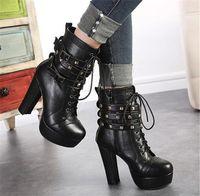 NOUVELLE serrure de cuir authentique des œuvres originales de la mode pinnacle authentique de la semelle en caoutchouc chaussures de loisirs des femmes plus Bottes
