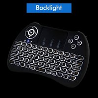 Wholesale 2 G Mini Wireless Backlight Keyboard Mouse Combo Fly Air Mouse Multi Media Remote Control for PC Pad Google Android TV Box S905X M8S