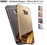 alumnium case - For Iphone S S Plus Galaxy S6 S7 Edge plus s7 s6 note Mirror Case Glitter Plating Aluminum Bumper Alumnium frame back phone cover