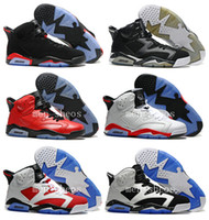 basketball athletic shoes black red - High Quality s Basketball Shoes Men AJ6 Carmine Infrared J6s Blue Olympic Slam Dunk Oreo Athletics Sports Shoes With Box