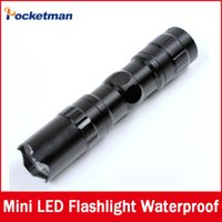 Wholesale High quality mini LED Flashlight Strong Lanterna Torch light Waterproof lantern penlight