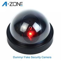 Wholesale Fake Camera AA Battery for Flash Blinking LED Dummy Security Camera Dome CCTV Camera surveillance camaras de seguridad New