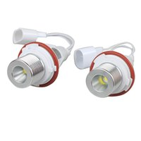 Wholesale 2X W White CREE LED Angel Eye Halo Bulb Light for BMW E39 E53 E60 E63 E64 E65