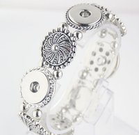 Wholesale Popular Fashion Elegant Artistical Snap Jewelry Charm Bracelet Fit mm Snap Buttons Charm Stretch Bracelet E827L