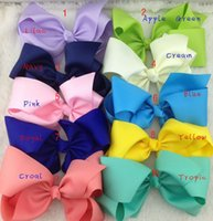 Wholesale New inch cm big bows large with clip girls boutique bows Bowknot hairpin Hair accessories colors baby Barrettes C1220