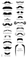 Wholesale New Fashion Creative Fake Beard Temporary Tattoo Body Sticker Black Cool False Mustache Tattoospaste Styles
