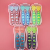 baby food make - Baby Supplies Baby spoons and forks Suits Which Be Made Of Food Grade PP Material Factory Deal