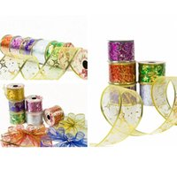 Wholesale Multicolor Organza Christmas Ribbon Moldable DIY Shape Christmas Decor Yard Roll mm mm Random Color