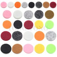 Wholesale Colorful Felt Pads for mm mm mm Essential Oil Diffusing Perfume Locket Pendant Floating Locket