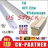 Wholesale 25pcs IN US stock direct sale UL CE ROHS Super Bright ft w W T8 LED fluorecent tube light G13 m PC SMD2835 Tubes Lamps AC V