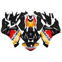 al por mayor carenados amarillo honda-Kit de carenado de motocicleta de inyección de plástico para Honda CBR250RR 2011-2014 11 12 13 14 Kit de carenado de ABS Sportbike Carenado completo de Repsol Amarillo