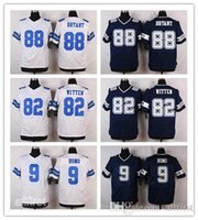 Wholesale 2016 Elite Mens Dallas Football Jerseys White Blue Bryant Romo Witten Elliott Jerseys