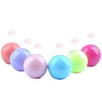 Wholesale D Lipstick New Makeup Round Ball Moisturizing lip balm Natural Plant Sphere lip Pomade lip balm Fruit Embellish lip Care