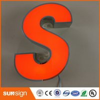 Wholesale Factory Outlet Outdoor advertising front lit Acrylic led channel letter sign for store name illuminated sign letters