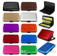 Wholesale Aluminium Alloy Credit card wallet cases card holder bank card case wallet Black Multi function card package card holder Anti magnetism