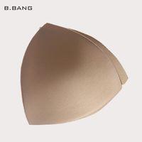 Wholesale B BANG Pair Triangle Sponge Bra Pad Removable Insert Breast Bikini Enhancers Women Intimate Accessorories Color