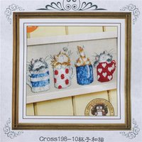Wholesale 2015 New Cotton Thread Needlework DIY Cross Stitch Sets For Embroidery Kits No Printed Cartoon Counted Cross Stitch Sets