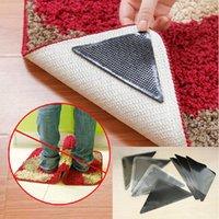 Wholesale Silicone Grip Rug Carpet Mat Non Slip Skid Grippers Reusable Washable Black Color
