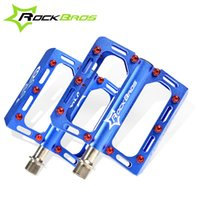 Wholesale ROCKBROS Ultralight Magnesium Alloy Mountain Bike Pedals Titanium Spindle quot Sealed Pedals Bicycle Cycling Pedals