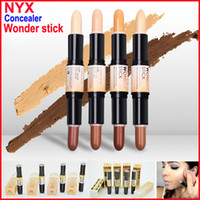 face cream - NYX Wonder Stick concealer Highlight Contour Stick Foundation Face makeup Double ended Contour stick Colors Light Medium Deep Universal