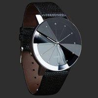 balck watch - Excellent Quality Top Luxury New Design Men Watches Balck Faux Leather Band Clock Quartz Wristwatch Relojes Montre Homme