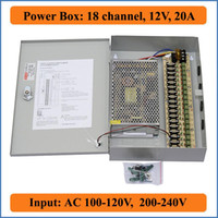 ac fuse box - 18 Port V A CCTV Camera Power Box CH channel PTC Fuse Distributed switching Power Supply Box CCTV Security Video Camera AC V