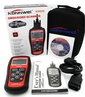 Wholesale Hot Sale OBD2 Scanner KW808 Car Diagnostic Code Reader CAN Engine Reset Tool KONNWEI Auto Scanner Coverage us Asian European