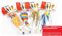 baby doll patterns - 4 patterns Brand baby clown hand puppets cm long wooden telescopic stick doll for kids children plush doll toys pc pack