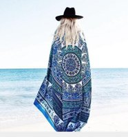 bath clocks - Round Square Women Beach Towel Cover Ups Sexy Beach Bath Wear Pareo Bohemian Chiffon Clock Swimsuit Cover Style Bathing Tunic Large Towels