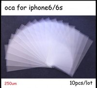 Wholesale 50pcs um for Iphone6 s inch OCA Optical Clear Adhesive OCA Glue OCA Film for LCD Digitizer Glass Repair