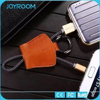 apple key note - JOYROOM Micro USB Cable cm Genuine Leather Key Chain Type C Micro Lightning USB Sync Data Cable for Samsung note