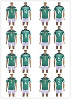 Wholesale Customized soccer jerseys Mexico Jersey I SABDI Green Red jersey bLACK Mix Order Drop Shipping Accepted