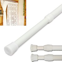 bathroom curtain rods - Excellent Quality New Arrival White Telescopic Extendable Extending Shower Curtain Pole Rod Rail Hanger Fit For Bathroom