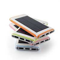 Wholesale 2016 New mah Solar Power Bank USB port Solar Charger bateria external Solar Battery Charger Powerbank for smartphone