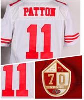 Wholesale new season White Elite PATTON Football Jerseys with the th anniversary Patch Football Wear Shirts top Cheap Football Jerseys Uniforms