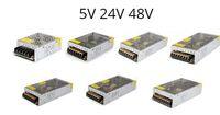 Wholesale AC V V to DC V V LED Lighting Transformer Lamp Strip Power Supply Adapter A A A A A A A A A Switch CE ROSH Dropship