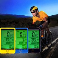 Wholesale Water resistant Multifunction Wireless Bike Bicycle Cycling Computer Odometer Speedometer Touch Button LCD Backlight Backlit H210720