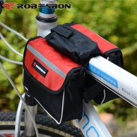 Wholesale New Cycling Bike Bicycle Front Bag Waterproof Reflective Tube Pannier High Capacity Mountain Road Bicycle Bags N7006